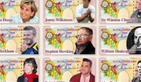 Робби Уильямс и Мик Джаггер могут появиться на 10-ти фунтовых банкнотах