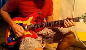 Никогда не мечтали о гитаре, сделанной из Lego?