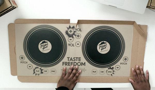 На коробке от Pizza Hut теперь можно играть DJ-сеты