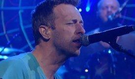 Coldplay исполнили песню Paradise на шоу Леттермана